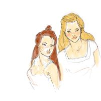 Weasley Sisters by MioneBookworm