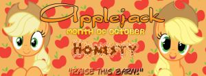 Applejack Month - Facebook Cover by AceofPonies
