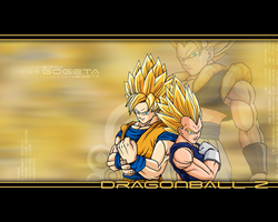 Goku Vegeta Gogeta Wallpaper by RyuuketsuEG