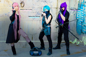 Luka Mikuo Gakupo - Vocaloid Cyberpunk cosplay by Rael-chan89