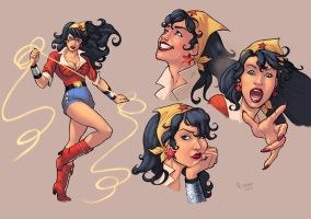 Bombshell Wonder Woman color by logicfun