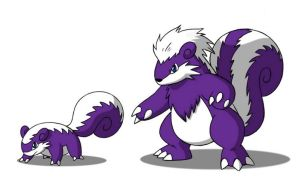 Skunxic and Evolution by 070trigger