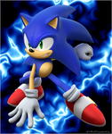Blue Flame Sonic by MLR19