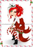 Christmas Card 08 Candy Cane by marshmellowbrains