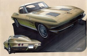1963 Split window Corvette by PPLBLISS