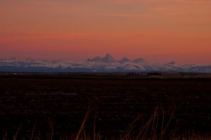Sunset Over The Tetons by melly4260