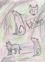 Wolve Doodles by Rhaylina