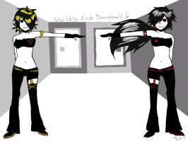 Seras and Tilly World's End Dancehall by MaxieMarieHawke