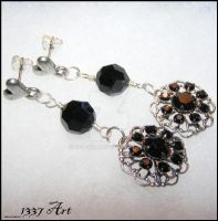 Dark Romantic FiligreeEarrings by 1337-Art