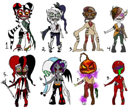 Psycho-Fiend Adopts Batch (CLOSED) by ChaoticallyKhaos