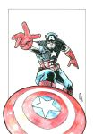 Captain America Watercolur by natelyon