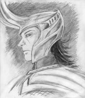 Loki pencil sketch by thenumber42