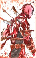 Deadpool - watercolors by radja01