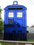 Doctor Who Stained Glass Tardis Close Up by captiveaura