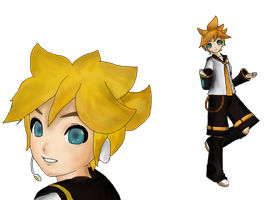 Len Kagamine  Project Diva 2 by aokahatsunechinzapep