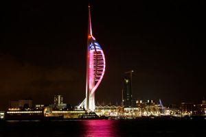 Portsmouth by Night by Abylone