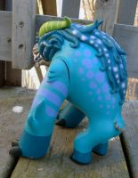Custom Foo Dog toy- blue 2 by missmonster