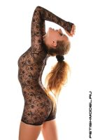 Lace Mini CatSuit 2 by agnadeviphotographer
