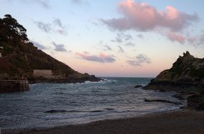Sunset at Polperro by parallel-pam