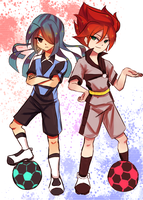 Kazemaru and hiroto by LucLightning