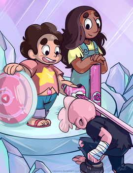 Steven Universe - The Knighty of Lars Barriga by caycowa
