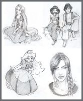 Sketchavember 2011 : Disney and Games by anla