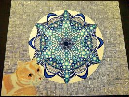 Mandala11 traditional work by Lou-in-Canada