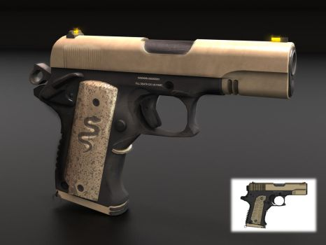 Modified Colt 1911 by TheBadPanda2