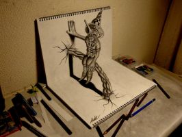 3D Drawing - Residents on the sketchbook by NAGAIHIDEYUKI
