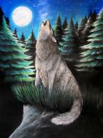 Howling Wolf by bleistiftkind