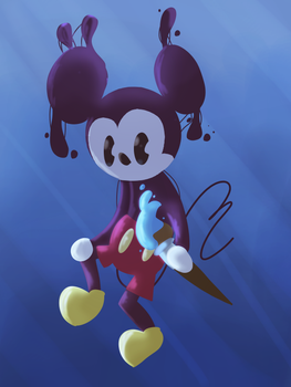 'looks like mickey's about to do some watercolour' by luckyrabbitt