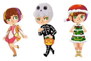 Animal Crossing Dea's Outfits by Deus-Marionette