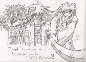 1,000 Pageviews by BloodlustBakura