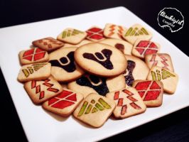 Destiny Themed Cookies by tasukigirl