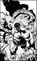 Shaw Hulk - inks by JeffGraham-Art