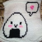 Tunisian Crochet - Happy Onigiri by passionfyre