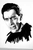 Christopher Lee-Dracula by kreepykustomz