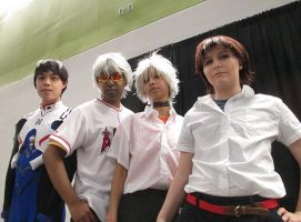 Kaworu and Shinji Group Shot by R-Legend