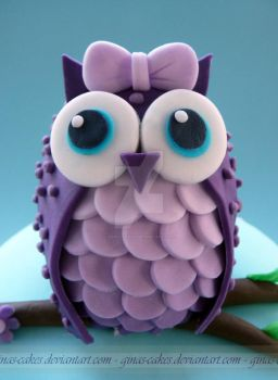 Owl Topper by ginas-cakes