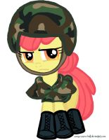 Soldier Apple Bloom by creepy-screw-ball