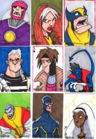X Men Sketch Cards by Bloodzilla-Billy