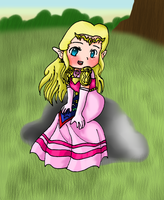 Princess Zelda -Hyrule's Field by iZelda27