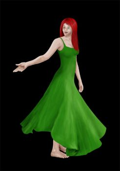 Green Dress by Saraella