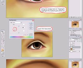 Easy Realism Eye Tutorial by sambees