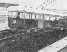 Dual-Pole Streetcar by takeshita-kenji
