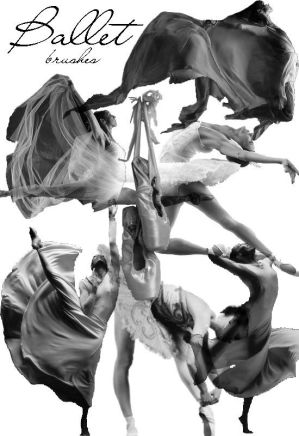 Montages Ballet_brushes_by_AirStok