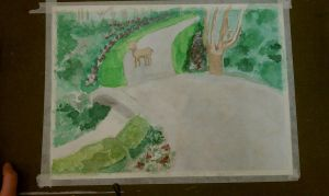 Unfinished watercolour by AliceLovesChes