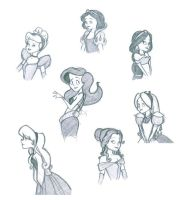 Disney Princesses by kitkatfan