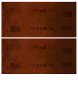 FNV Dynamite labels. by emptysamurai