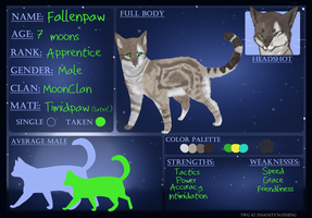 Fallenpaw Ref Sheet by Nixhil